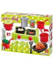 Set de joaca Ecoiffier - Soba de camping cu accesorii -1