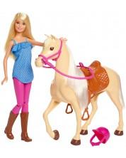 Set de joaca Mattel Barbie -Barbie si cal