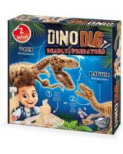 Set de joaca Buki Sciences - Tyrannosaurus Rex și Velociraptor