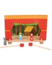 Set de joaca Bigjigs - Teatru magnetic cu figurine din lemn -1