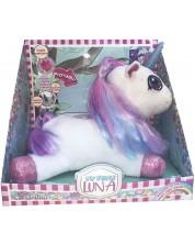 Jucarie interactiva de plus Dimian Luna - Primul meu unicorn, cu corn luminos