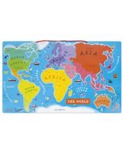 Jucarie magnetica pentru copii - Harta lumii, in limba engleza -1