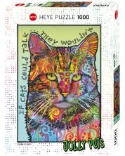 Puzzle Heye de 1000 piese - Daca pisicile puteau sa vorbeasca