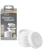 Set 4 capace pentru recipiente stocare lapte matern Tommee Tippee - Closer to Nature -1