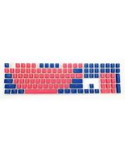 Taste pentru tastatura mecanica Ducky - Pudding, rosii/albastre