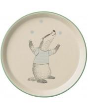 Farfurie din ceramica Bloomingville Ellie - bursucul jongleaza -1