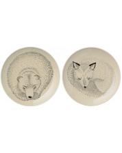 Farfurii din ceramica Bloomingville Sleeping Fox Adelynn - 2 buc. -1