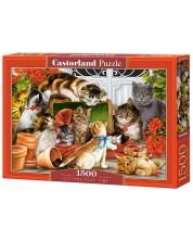 Puzzle Castorland de 1500 piese - Jocul pisicilor
