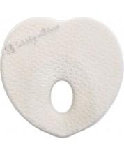 Perna ergonomica cu spuma de memorie Kikka Boo -Heart, White Velvet -1