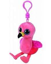 Breloc TY Toys Beanie Boos - Flaming roz Gilda -1