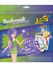 Carte de desen cu stickere si sabloane Folia - O lume magica -1