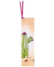 Semn de carte cu siret Simetro - Cactus -1