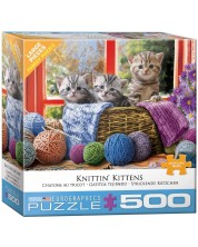 Puzzle Eurographics de 500 piese  XL - Knittin' Kittens