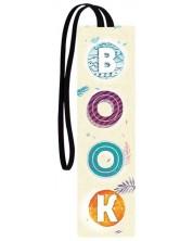 Separator de carte cu elastic Simetro - BOOK - acuarela -1