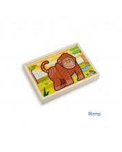 Set de 4 puzzle din lemn Andreu toys -Jungla -1