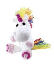 Set creativ de tricotat cu un carlig Folia - Tricoteaza singur, Unicorn -1