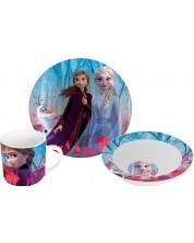 Set Disney - Frozen II (cana, farfurie si castron)