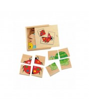 Set puzzle-uri din lemn Woody – 4 in 1 -1
