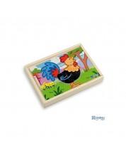 Set de 4 puzzle din lemn Andreu toys - Ferma -1