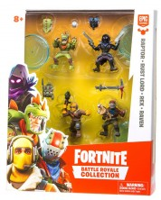 Set de 4 fugurine Moose Fortnite Battle Royale - Raptor, Rust Lord, Rex, Raven