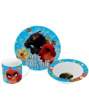 Set Disney - Angry Birds (cana, farfurie si castron)