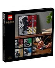 Set de construit Lego Art Harry Potter - Emblemele de la Hogwarts (31201)