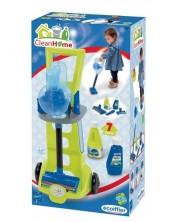 Set pentru curatenie Ecoiffier - Carucior cu aspirator -1