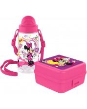 Set sticla si cutie pentru mancare Disney - Minnie Mouse