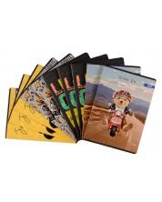 Set de 10 caiete Spree  - Cool Dude, A4, 62 file, randuri late -1