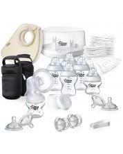 Set pentru alaptat cu sterilizator pentru cuptor cu microunde Tommee Tippee -1