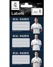 Set etichete scolare FC Real Madrid - 9  bucati -1