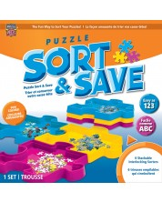 Set sortare pentru piese puzzle Master Pieces - 6 bucati Sort & Save