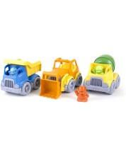 Set vehicule pentru constructii Green Toys, 3 bucati -1
