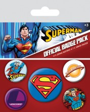 Set insigne Pyramid DC Comics: Superman - Classic comics