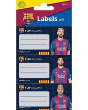 Set etichete scvolare  FC Barcelona - 9 bucati -1