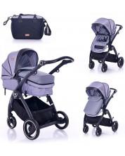 Carucior combinat pentru copii Lorelli - Adria, Grey -1