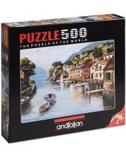 Puzzle Anatolian de 500 piese - Case pe malul raului, Sung Kim