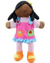 Papusa pentru teatru de papusi The Puppet Company - Fetita cu haine roz, 38 cm