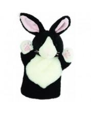 Papusa de mana stil manusa The Puppet Company - Iepure  negru-alb
