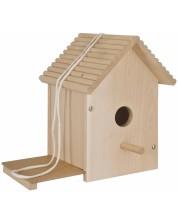 Set din lemn Eichhorn - Casuta pentru pasari, de desenat -1