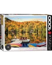 Puzzle Eurographics de 1000 piese -Lakeside Cottage, Quebec