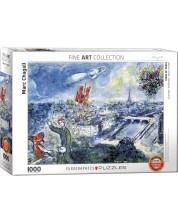 Puzzle Eurographics de 1000 piese - Buchetul din Paris, Mark Chagall -1