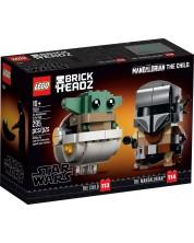 Constructor Lego Brickheads - The Mandalorian si copilul (75317)