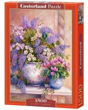 Puzzle Castorland de 1500 piese -Flori de liliac, Trisha Hardwick