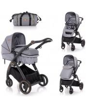 Carucior combinat pentru copii Lorelli - Adria Grey -1
