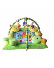 Salteluta pentru gimnastica bebelusului Lorelli Toys - Cu 4 jucarii de plus -1