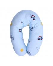 Perna de alaptare Lorelli Ranforce - Ursulet cu masina, 190 cm, albastra -1