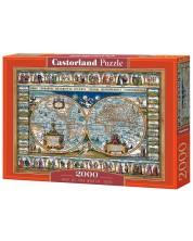 Puzzle Castorland de 2000 piese - Harta lumii din anul 1639