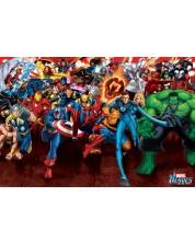 Poster maxi Pyramid - Marvel Heroes (Attack)