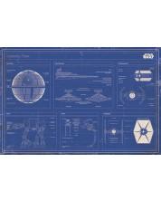 Poster maxi Pyramid - Star Wars - Imperial fleet blueprint